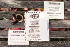 Country Wedding Invitations - Stevie Photography