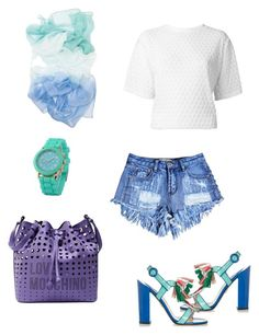 Summer time by aakiegera on Polyvore featuring polyvore, fashion, style, Kenzo, Paul Andrew, Love Moschino, Zodaca and clothing