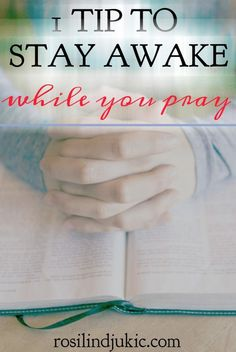Here's a tip for staying awake while you pray that I'll bet you've never thought of. It is simple but so effective! Stop falling asleep during your quiet time with this one easy trick!
