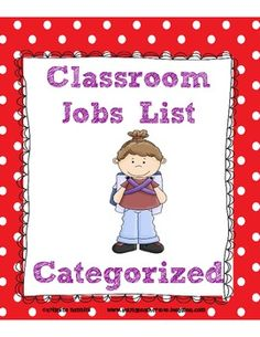 30 Classroom jobs are listed and categorized in this document-Categories include: beginning of the day jobs, during the day jobs and end of day. Fun Classroom Activities, Classroom Jobs, Classroom Organisation, Classroom Behavior, School Organization, Classroom Management, Class Management, Behavior Management, Job List