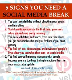 Very interesting and relevant to me and my peers. Sometimes a social media break is exactly what we need.