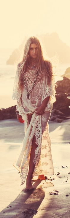 lace caftan/dress (you would need a slip...you can pick one up yourself locally...our get a FREE PEOPLE one)