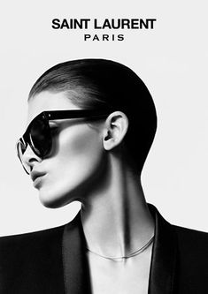 Hedi Slimane shoots Melissa Stasiuk and Brayden Pritchard for the Autumn/Winter 2012 Saint Laurent Paris Eyewear campaign.