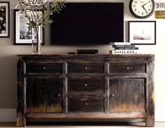 Furniture for Flat Screen TV Master Bedroom, hides Game system  and other crap that goes with TV