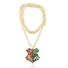 Fashion Harry Potter Golden Metal Necklace