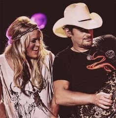 Carrie Underwood and Brad Paisley Country Music Artists, Country Music Stars, Country Singers, Music Love, Music Is Life, Kimberly Williams, This Is Your Life, Brad Paisley, Luke Bryan