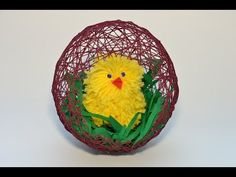 Залила клеем ПВА моток ниток, чтобы создать очень оригинальную пасхальную композицию… Crochet Doilies, Happy Easter, Diy, Knitting, Line, Cement, Easter, Art, Amigurumi