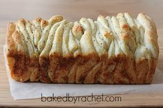 Garlic and Herb Pull Apart Bread Recipe from bakedbyrachel.com looks super easy to veganize