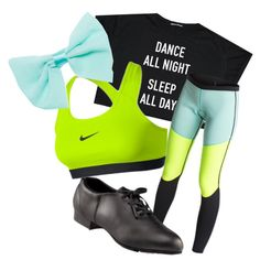 Tapper Chic by shoppreppypandas on Polyvore featuring polyvore fashion style Roxy NIKE Capezio Dance Wet Seal