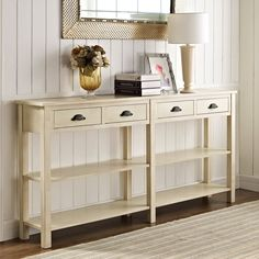 Have to have it. Powell Cream Crackle Console - $449 @hayneedle