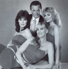 THE PRICE IS RIGHT:  Bob Barker and his Beauties, Holly Hallstrom, Janice Pennington and Dian Parkinson