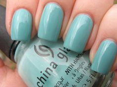 China Glaze 'For Audrey' nail polish - perfect Tiffany Blue - really love this color