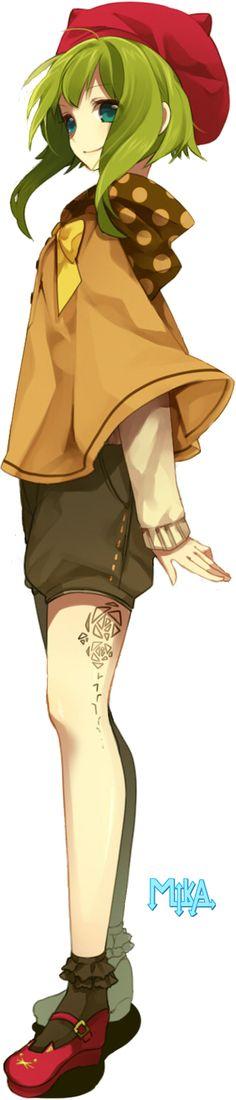 Gumi Render - Vocaloid by Hitotama