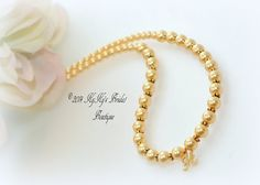 Personalized Flower Girl Necklace Choose from 40 Swarovski Pearl Colors, by KyKysBridalBoutique, $49.99 #flowergirljewelry #personalizedflowergirlnecklace