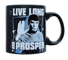 Star Trek Mug, Star Trek Spock, Live Long, Star Trek Merchandise, Disney Coffee Mugs, Color Changing Coffee Mug, Sci Fi Series, Best Deals Online, Refreshing Drinks