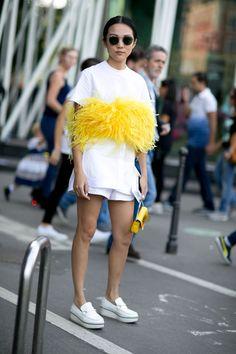 yellow feather #streetstyle #fashion #pixiemarket