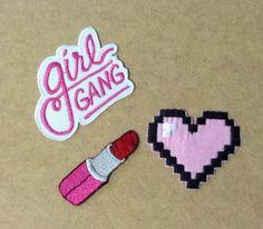 Kit Patch (Girl Gang/Batom/Coração)