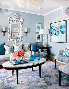 designer knows best livingroom home tour {bold & beautiful blues}