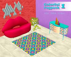 RE-UPLOADING my old rug recolors. I removed the posts a while back and moved files from Onedrive to SFS.  • 63 colorful recolors  • made on IKEA Uldur rug  • files are not compressed  DOWNLOAD (TS2)