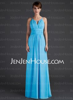 Mother of the Bride Dresses - $130.69 - A-Line/Princess Scoop Neck Floor-Length Chiffon Mother of the Bride Dresses With Ruffle (008015636) http://jenjenhouse.com/A-Line-Princess-Scoop-Neck-Floor-Length-Chiffon-Mother-Of-The-Bride-Dresses-With-Ruffle-008015636-g15636