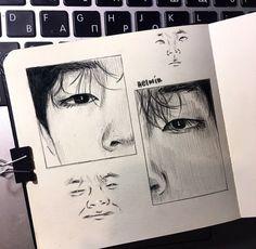 Pretty Drawings, Art Drawings Sketches Simple, Pencil Art Drawings, Aesthetic Drawing, Aesthetic Art, Bts Art, Kpop Drawings, Arte Sketchbook, Doodle Art