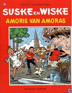 Suske en Wiske: Amoris van Amoras (200): Lambik werkt als gids in Antwerpen en kan zijn klanten niet vertellen welk standbeeld op de Groenplaats staat. Lambik krijgt een emmer op zijn voet die van de Onze Lieve Vrouwentoren valt, een toerist zegt dat hij een spook rond de toren heeft zien vliegen. Suske en Wiske komen naar het ziekenhuis waar Lambik wordt verzorgd en gaan later op onderzoek in de kathedraal. Suske valt van de toren en Sus Antigoon kan hem net op tijd redden.