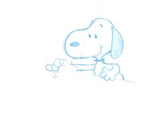 Peanuts Snoopy Original Production Animation Cel drawing 1970's COA 2* by CharlesScottGallery on Etsy