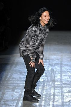 Alexander Wang's Touchdown Dance: A Retrospective: Fall 2011--Beckoning to a puppy to do a dancing dog trick with him. And you totally know what we mean.    Photo: Style.com