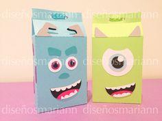 Cajitas dulceros de los personajes de Monsters Inc.