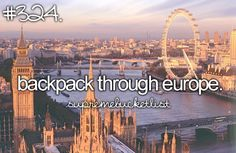 - we aren't going to quite backpack.. but I'm GOING TO EUROPE IN JUNE! (: