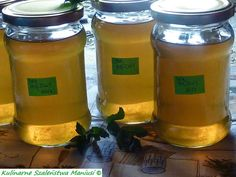 Sok z mięty :-) Drink Bottles, Preserves, Ale, Mason Jars, Food And Drink, Cooking Recipes, Sweets, Homemade, Vegan