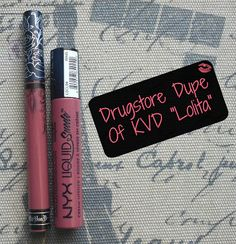 Drugstore Dupe Of Kat Von D Everlasting Liquid Lipstick in Lolita