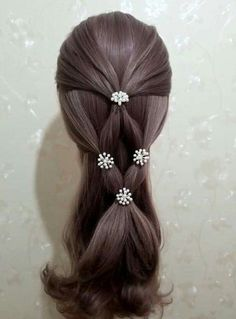 32 Ideas For Hair Braids Kids Pony Tails Pinterest Hair, Toddler Hair, Little Girl Hairstyles, Doll Hair, Hair Dos, Hair Designs, Hair Hacks, Braided Hairstyles, Heatless Hairstyles