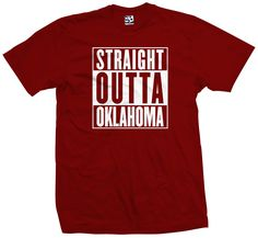 Straight Outta Oklahoma T-Shirt Sooners Thunder City Parody All Sizes Colors - Thunder - Ideas of Thunder gift #Thundergift Straight Outta Shirts, Straight Outta Compton, Custom Meme, Thunder City, Personalized Shirts, Print Logo, All The Colors, Nashville, Tennessee