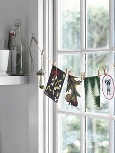 Bring the outdoors in by hanging forest-themed cards in your home! #christmas #decor
