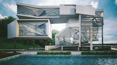 Check Out The Geometric Insanity Of The Aviator's Villa, Designed By Urban Office Architecture - Supercompressor.com