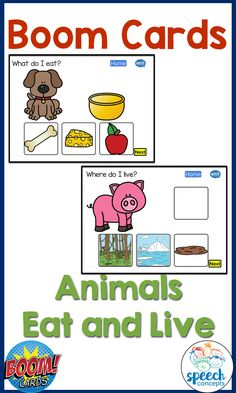 This Boom Card set focuses on Animals.  It is all about what they eat and where they live.  Learning more about animals hopes language learners to develop their vocabulary as well as make connections between words. Where Do I Live, Vocabulary Building, English Language Arts, Learning Tools, Therapy Ideas, Speech Therapy, Distance, Teacher, Student