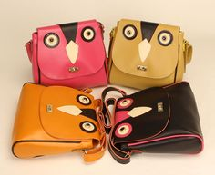 Cat Pattern PU Adjustable Strap Women Messenger Bags