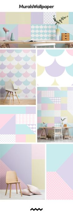 Decorate your home in this refreshingly zingy collection inspired by ice cream colours from the catwalks pastel summer trend. MuralsWallpaper designers have taken this trend and created a collection of both fun and stylish wallpapers, perfect for creating an accent wall in your home with a refreshing pop of ice cream pastel. Style these designs with simple, light furniture and complimentary pastel accessories. Click to read the blog for more inspiration.