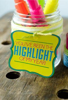 Appreciation Gift Ideas for Teacher Day � FREE Printable