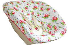 Cover Stokke Newborn, white with pink roses. www.ukje.nl