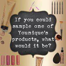 What Younique product would you like to try? I would love to send you a sample!!! http://www.embellishedbyjen.com