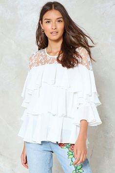 249e4909e02 This baby is tier to our hearts. The Tier and Dear to You Blouse features