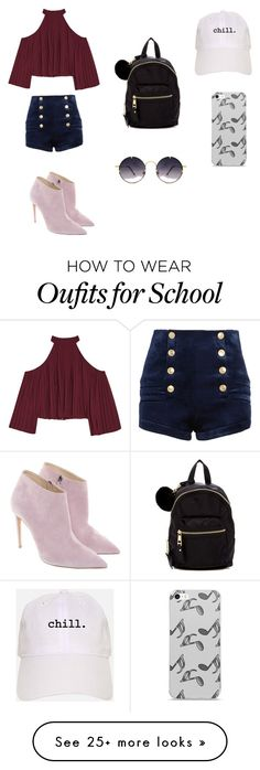 """""""For school"""" by emmacroucher on Polyvore featuring W118 by Walter Baker, Pierre Balmain, Ralph Lauren, Madden Girl, Spitfire and Music Notes"""