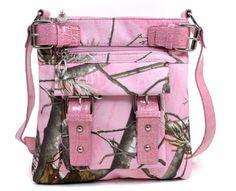 Realtree APG Pink Cross Body Messenger Bag, Womens Pink Camo Purse Shoulder Bag by Realtree, http://www.amazon.com/dp/B00E3NPQ5E/ref=cm_sw_r_pi_dp_6fXDsb1PSYSCB