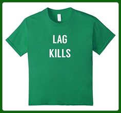 Kids Lag Kills Funny Gamer Gaming Gift Tee shirt 6 Kelly Green - Gamer shirts (*Amazon Partner-Link)