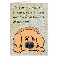 free dog condolence stickers | Sad Dog Cartoon Pet Sympathy Card for Loss of Pet | Zazzle