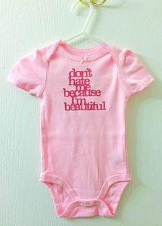 Silhouette Heat Transfer Baby Girl Onesie