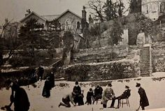 he corner of Park Ravine and Clifton Terrace 1890. The lower lawn of this house has been flooded and allowed to freeze in order to provide a private skating rink for the family.