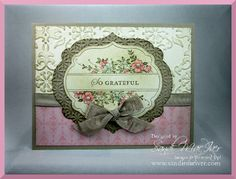 apothecary art, thank you card by SandiMac - Cards and Paper Crafts at Splitcoaststampers